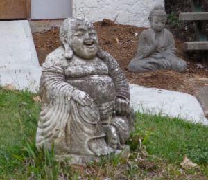 Buddha in front yard